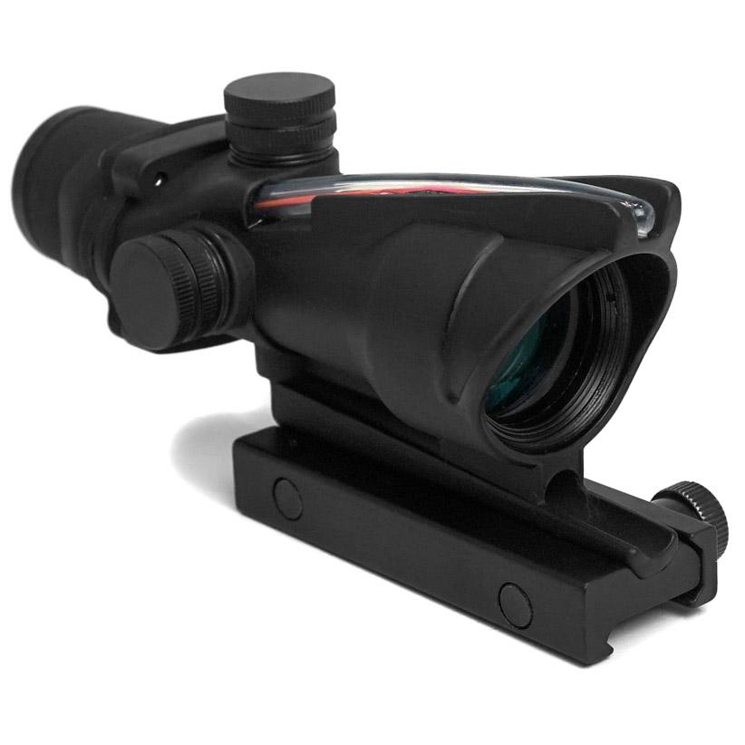 Aim-O Trijicon ACOGタイプ TA31 お歳暮 4X32 スコープ レッド 集光チューブ 贈与 電池不要