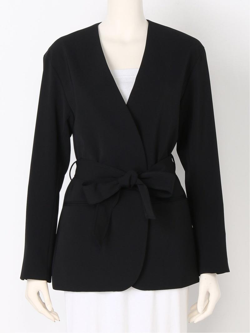 [ Fashion]【SALE/60%OFF】スリーピースノーカラージャケット Mila Owen ミラオーウェン コート/ジャケット ノーカラージャケット ブラック ネイビー カーキ【RBA_E】【送料無料】:Mila Owen