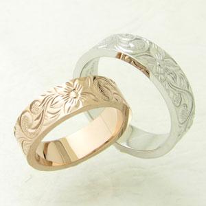 刻印無料 シャープで洗練されたハワイアンジュエリーのペアリング ペアリング 指輪 シルバー リング wacca ハワイアンジュエリー ゴールド PNKR13-SVPC