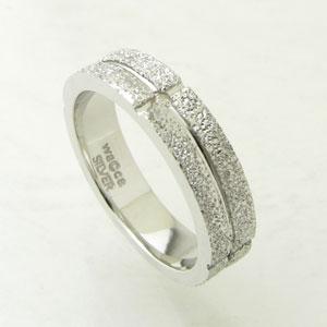 指輪 シルバー リング waCca スターダストシリーズダイヤモンド付き シルバーリング 17号PNKR45RH-z