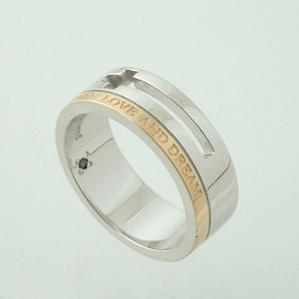 指輪 【サイズ限定】close to meピンクゴールドライン メッセージ シルバーリングSR13-012PG【プレゼント】【指輪】