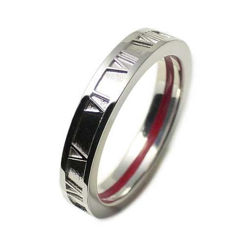 指輪 レディース メンズ LOVE of DESTINY 運命の愛 絆 赤い本物の糸 シルバーリング ローマ数字 LODR-038