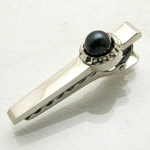 ネクタイピン DAgDART ブラックパール 黒真珠 シルバー シンプル DK-046【父の日】【結婚式】