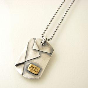 ネックレス メンズ DAgDART 真鍮×シルバープレートネックレス ブラス×シルバーペンダントDT-459