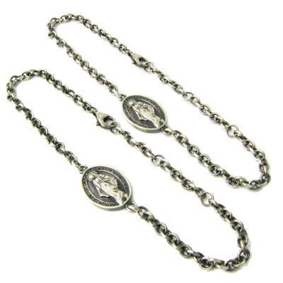 RoyalStagZEST ペアブレスレット マリアメダイ ブラックダイヤモンド 2個セット シルバーブレスレット SBR25-018p