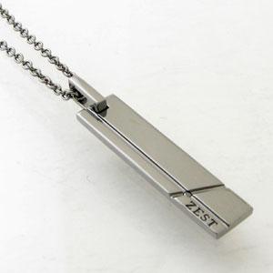 ネックレス メンズ RoyalStagZEST ブラックダイヤモンド ブラックコーティングシルバーラインプレートシルバーネックレスSN25-003