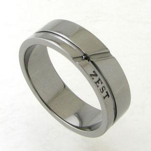 シャープなラインを刻んだシンプルデザインリング 指輪 メンズ Royal Stag ZEST ブラックダイヤモンド カットライン ブラックコーティングシルバーリング(ブラックロジウム) SR25-002