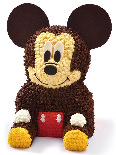 マイルストーン ミッキー/3Dケーキ ミッキーマウス  バースデーケーキ 誕生日 キャラクター ディズニー 立体ケーキ デコレーションケーキ 誕生日パーティー サプライズ