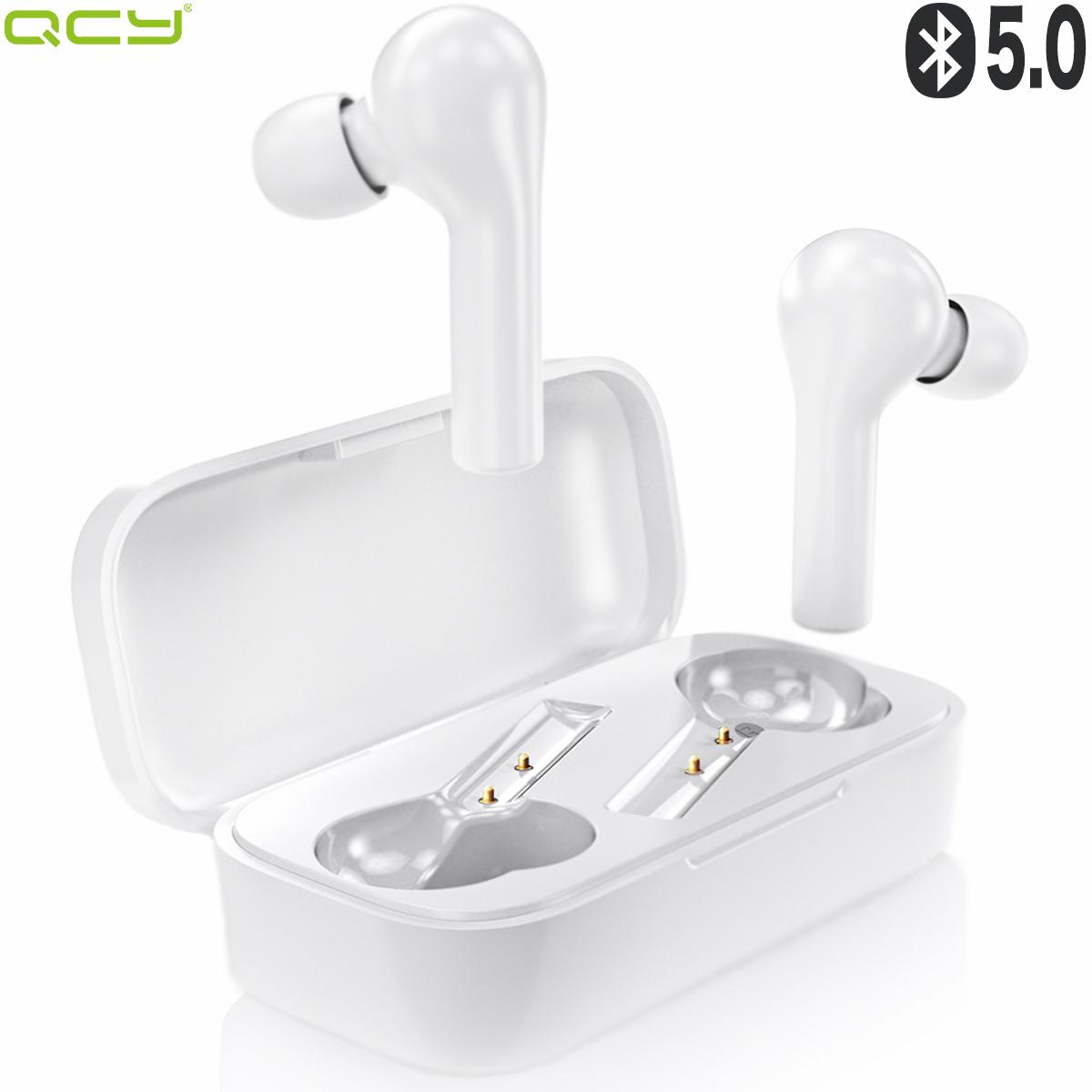 携帯 コードレス ワイヤレス イヤホン Bluetooth スポーツ ランニング おすすめ コンパクト 長時間再生 左右分離方 通話可能 ノイズキャンセリング 可愛い おしゃれ かわいい 「1位 ゲームモード搭載」QCY T5 ワイヤレスイヤホン Bluetooth イヤホン 完全 ワイヤレス ブルートゥース イヤホン 両耳 片耳 高音質 自動ペアリング タッチ型 カナル型 マイク付き 通話 防水 長時間 iPhone Android 対応