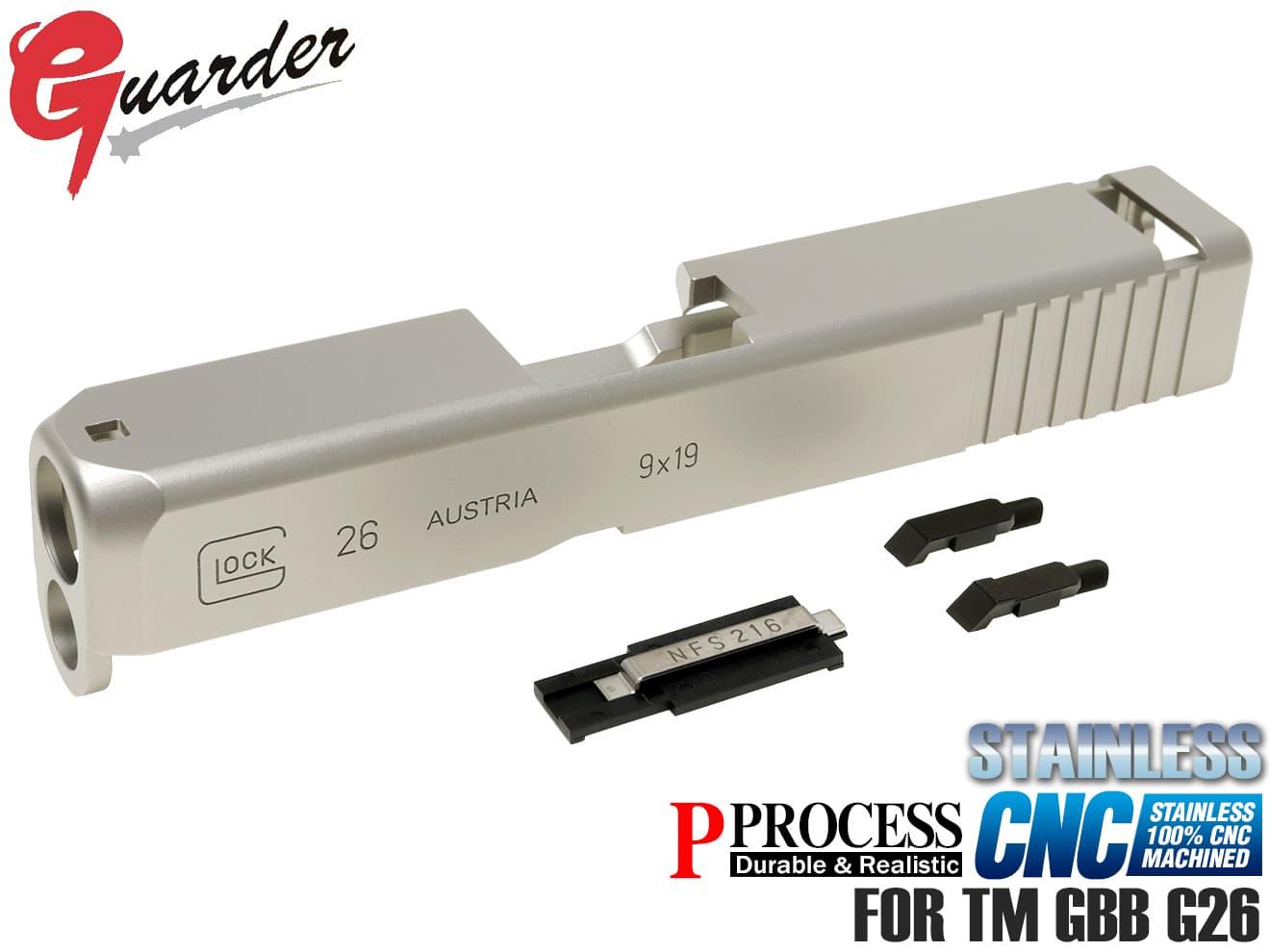 GLOCK-74(SV)■【限定モデル!100%CNC加工】GUARDER(ガーダー) スチールスライド&バレルキット◆マルイG26