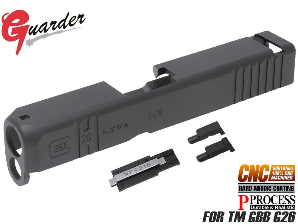 GLOCK-95(BK)■【送料無料】GUARDER ガーダー CNCカスタムスライド&スチールバレルキット 東京マルイG26