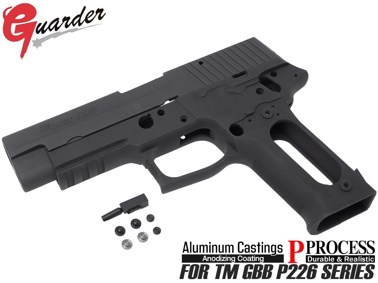 P226-15(BK)■【送料無料】GUARDER ガーダー P226 RAIL アルミスライド&フレームKIT Late Version Marking BK 東京マルイP226