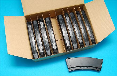 【お得な10個SET】G&P製 東京マルイAK47用 AK74スタイル 150連マガジン ブラック★GP367 BK 予備マガジンに!検)サバゲ ジーアンドピーフィールドAK74S