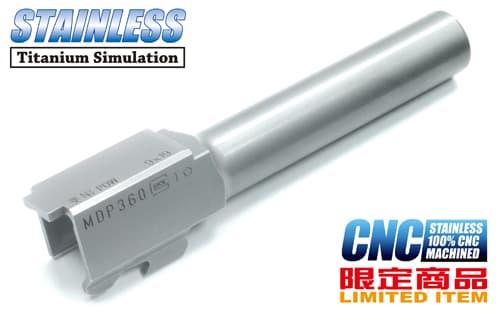 GLOCK-59(A)SV■【限定/CNCで精度抜群】限定 GUARDER G19 CNC ステンレス アウターバレル/チタンカラー◆KJガスブローバック G19対応/リアル刻印