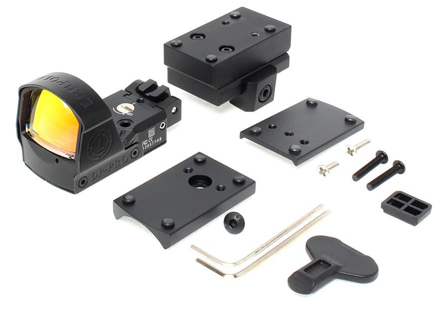 【マルイHi-CAPA/GLOCK対応】DP PRO Micro リフレックス サイト/BK◆20mmレールにも対応/ワイドビュー/ドットサイト/レッド5段階輝度調整