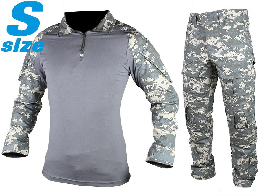 【BDU/迷彩服】G2 スタイル コンバットシャツ&パンツセット S-Size/レギュラー/ACU◆UCP装備 CRYE風 現在装備 戦闘服 サバゲ コスプレに