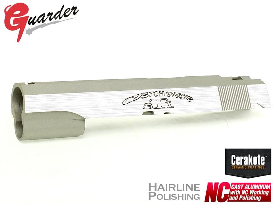 CAPA-25C(C)■GUARDER Hi-CAPA5.1 NCアルミスライド STI(Dual Silver Ver)◆Cerakote SV & ヘアラインポリッシュ