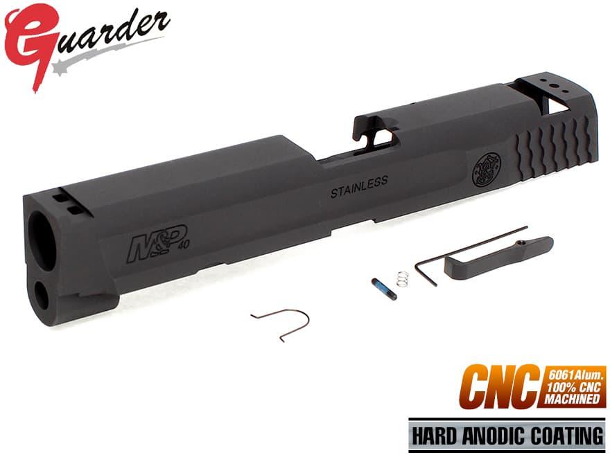 MP9-14(BK)■GUARDER CNC A6061 アルミスライド .40 M&P BK◆マルイ GBB M&P9対応 ハードアルマイ M&P.40仕様に