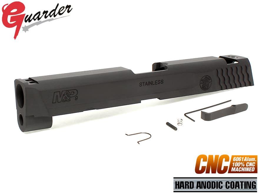MP9-15(BK)■GUARDER CNC A6061 アルミスライド 9mm M&P◆マルイ GBB M&P9対応 ハードアルマイト 高精度
