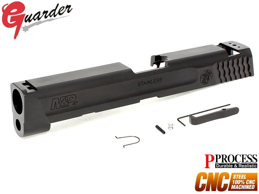 MP9-16(BK)■GUARDER CNC スチールスライド .40 M&P BK◆マルイ GBB M&P9対応 P-PROCESSコート リアル質感 超重量感