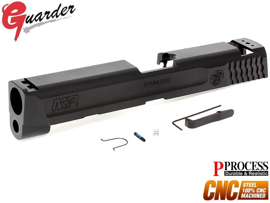 MP9-17(BK)■GUARDER CNC スチールスライド 9mm M&P BK◆マルイ GBB M&P9対応 P-PROCESSコート リアル質感 超重量感