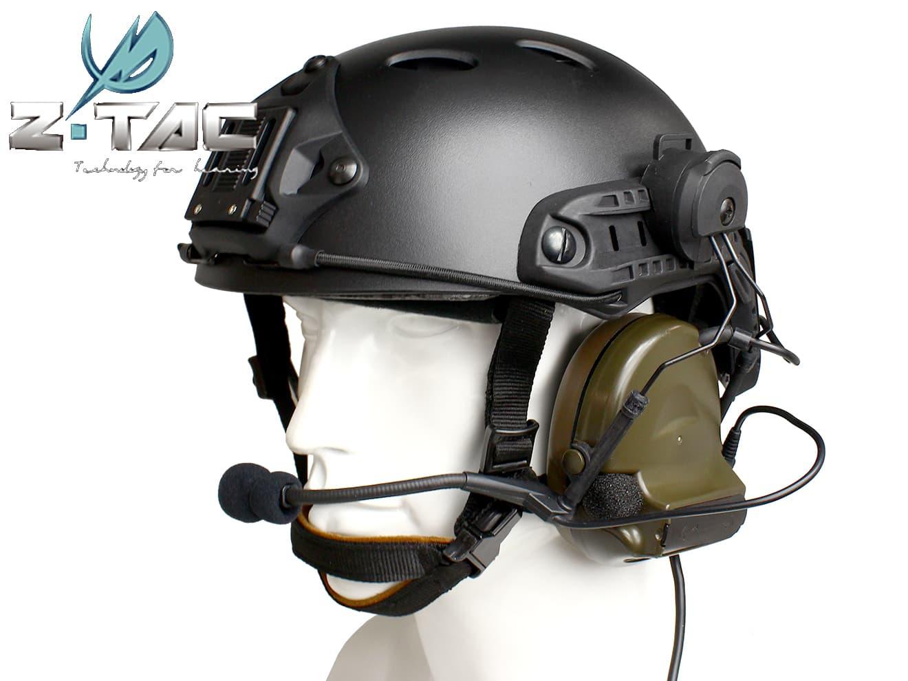 Z-TACTICAL CMTC 2ヘッドセット+OPS CORE CARBONEタイプ ヘルメット+ARCレールアダプター BK◆快適な装着感!サバゲに嬉しい3点セット!バラよりかなりお得!