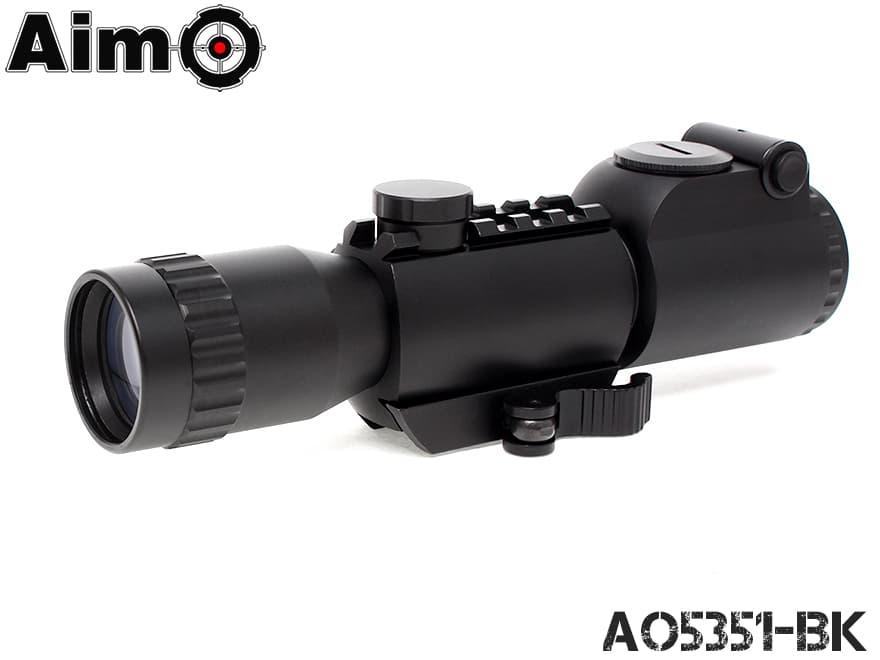 AIM-O 4x32 QD イルミネーション タクティカルスコープ BK◆4倍固定 中距離ターゲット向き ミルドットレティクル