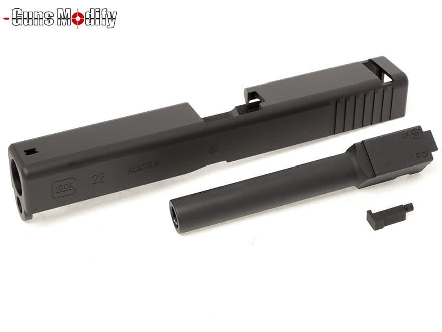 Guns Modify G22 CNC アルミスライド&アウターバレルセット 2016Ver◆東京マルイ GLOCK グロック G17/G22対応 DMD076刻印 メタルスライド カスタムスライド