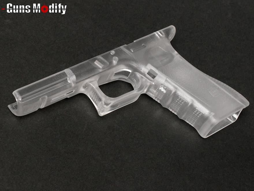 GunsModify Gen3 ポリマー樹脂+ファイバー オリジナルフレーム グロックシリーズ◆マルイ GLOCK G17 G18C G22 G34 透明フレーム US刻印 Gen3フレーム リアル形状