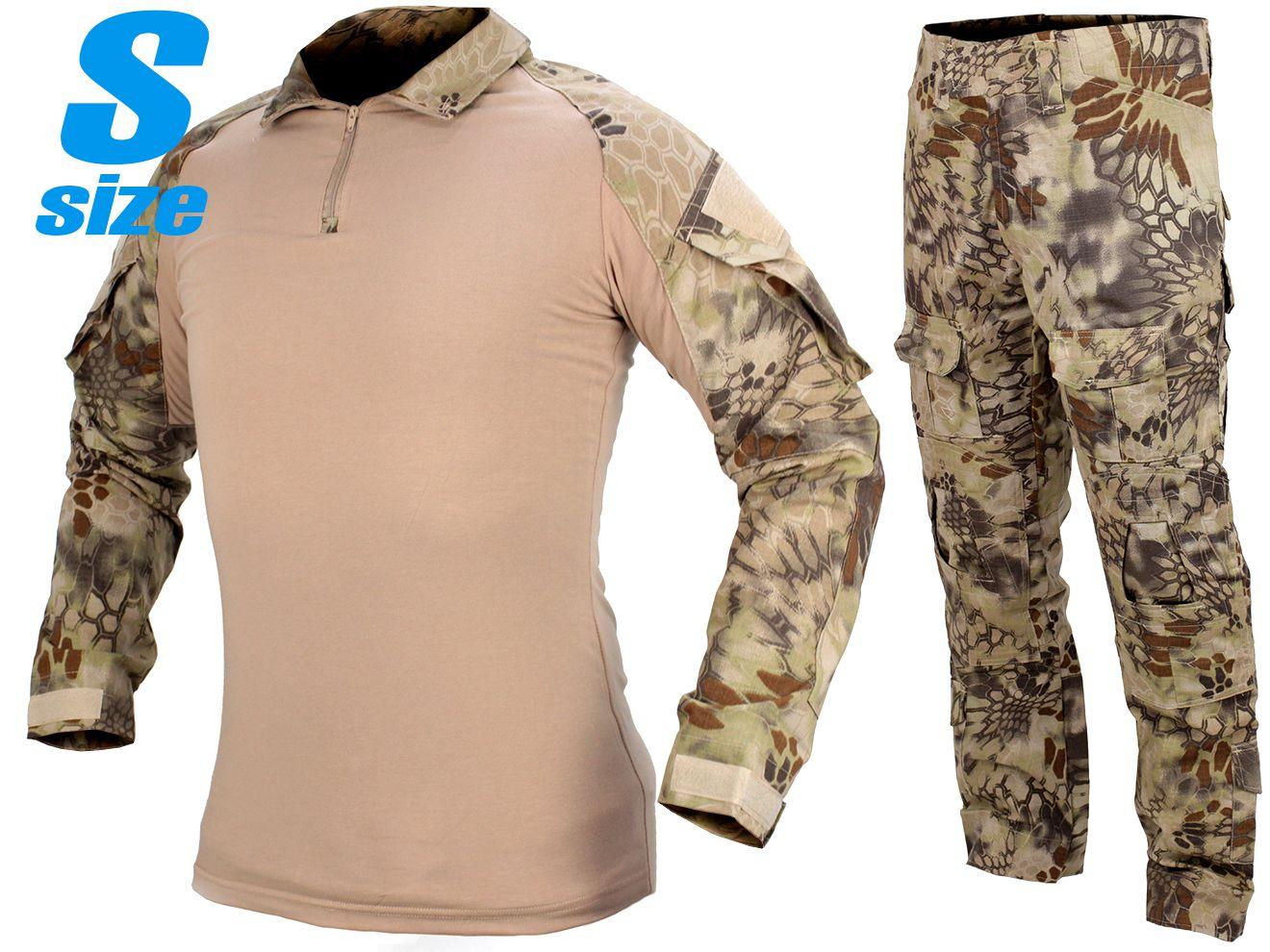 G2 スタイル コンバットシャツ&パンツセット S-Size / Regular ハイランダー◆ネイビーシールズ採用迷彩を再現!KRYPTEK迷彩風 クリプテック Cryeタイプ サバゲ 装備 BDU コスプレに