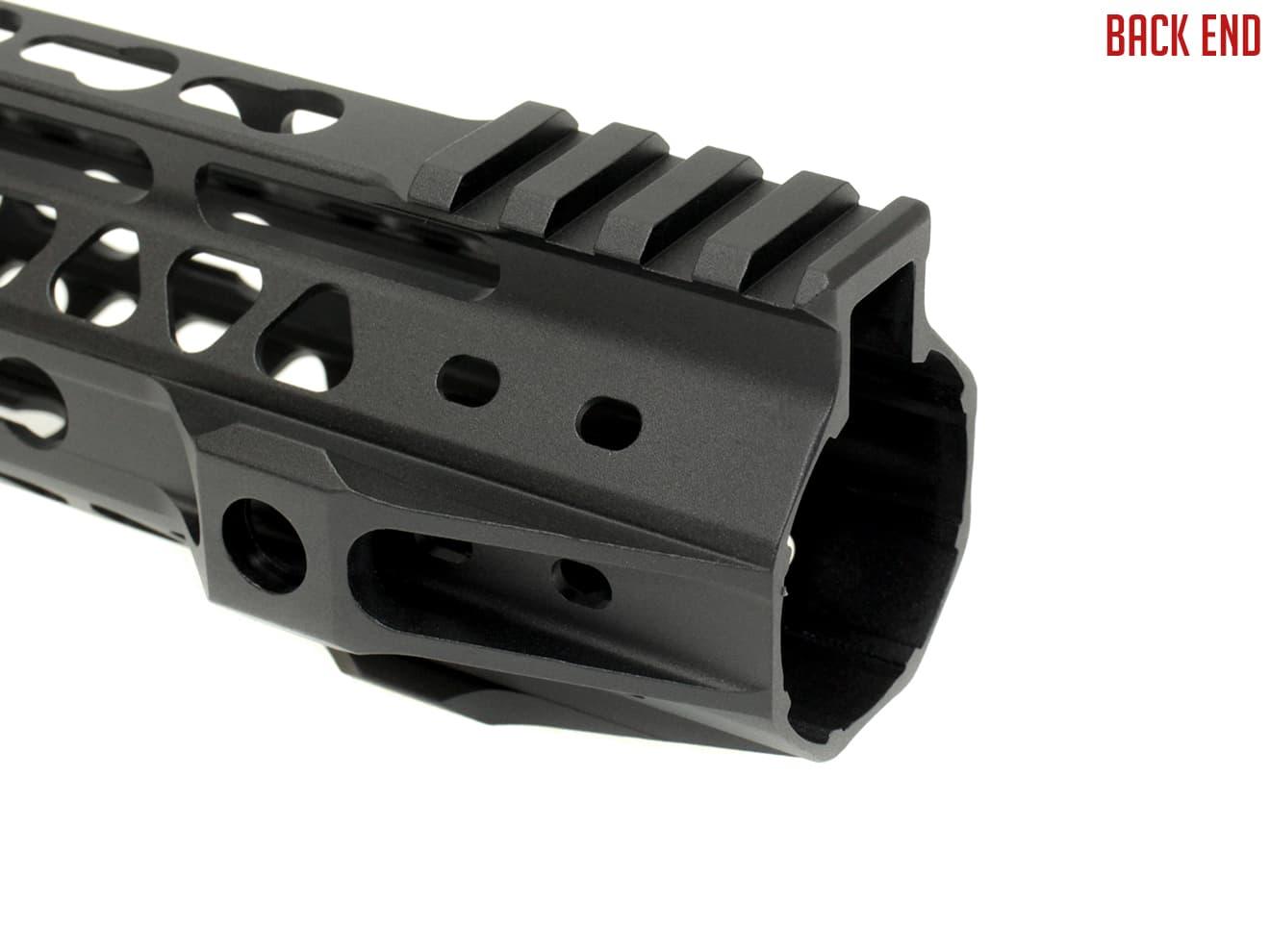 12 CNC Aluminum Key Mod Rail Handguard for Marui G&P SR Paintball M
