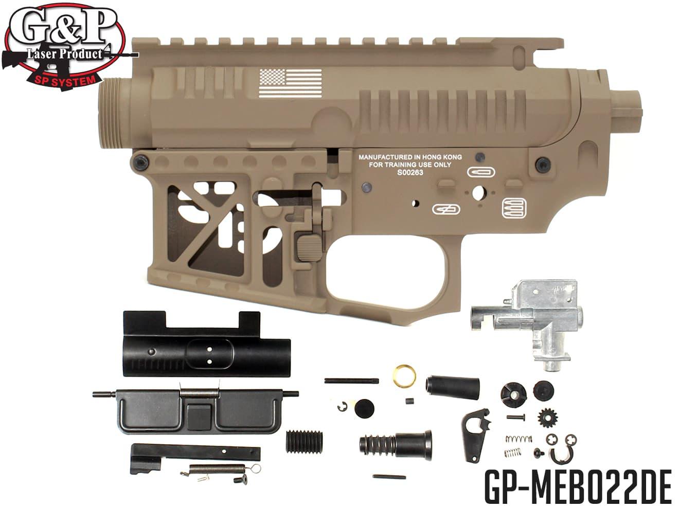 G&P Signature メタルフレーム for F.R.S. システム◆FRSシステム用 メタルレシーバー テーパーバレル対応 軽量 マルイ STD 電動ガン AEG M4 バージョン2 M4A1
