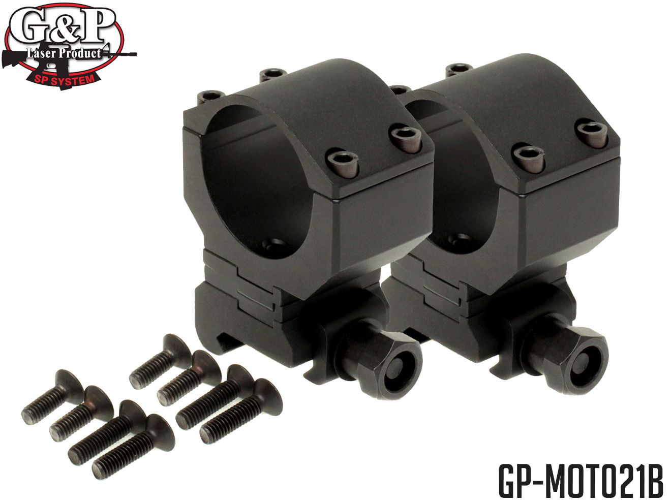 G&P KACタイプ アジャスタブル リングマウント 30mm 2個セット◆20mmレール対応 直径30mm スコープ マウント 高さ調整可 ナイツアーマメントタイプ LEUPOLD M4