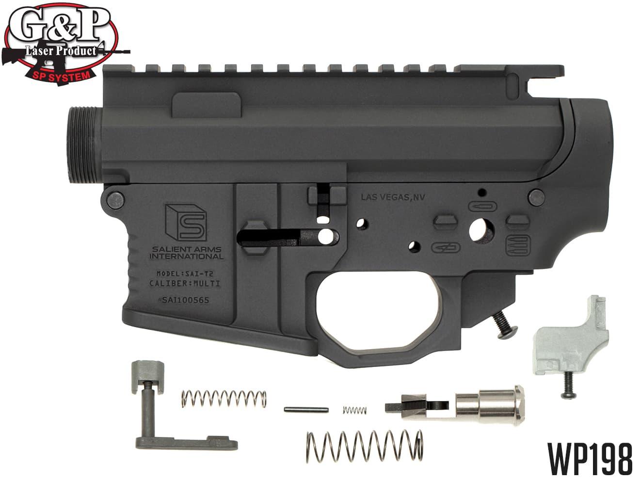 G&P SAI(Salient Arms International) メタルフレーム WA M4◆ウエスタンアームズ M4A1対応 AR-15 SAI社フレーム セイリエントアームズ 正規ライセンス SAI刻印