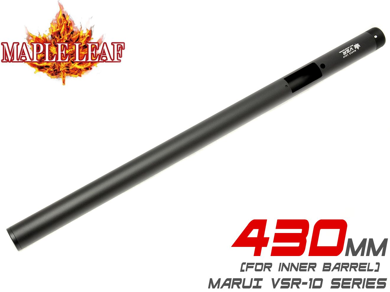 Maple Leaf アルミ ブルバレル for VSR-10 インナーバレル430mm用◆アルミ合金 ヘビーバレルデザイン アウターバレル 東京マルイ VSR10 G-SPEC プロスナイパー