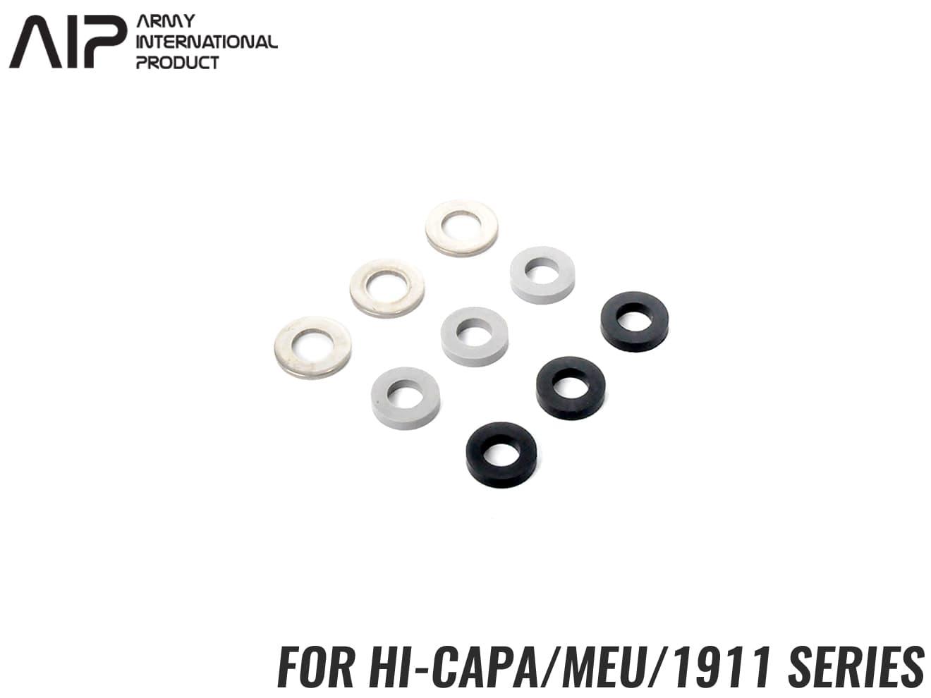 AIP エーアイピー リコイルバッファー ストローク変更 ブローバックスピードの調整 ストローク量調整 MEUピストル M1911A1 ハイキャパ4.3 ハイキャパ5.1 改造 ショートストローク化に 市場 カスタム GBB MEU M1911シリーズ対応 東京マルイ Hi-CAPA 1911 調整パーツ ハイキャパ 最安値挑戦