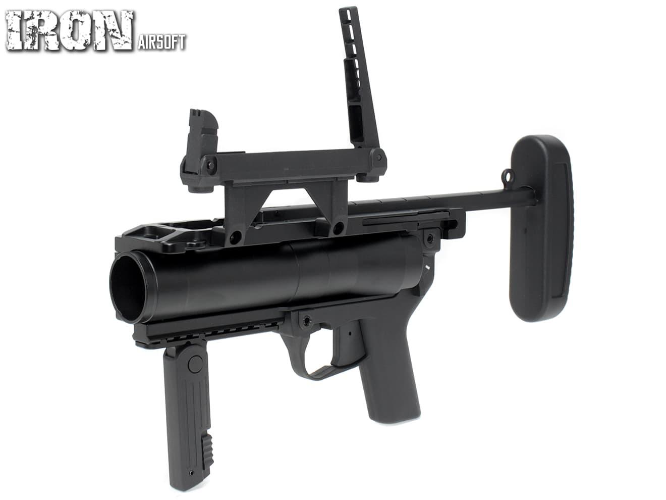 IRON AIRSOFT M320 グレネードランチャー(ダイキャスト)◆20mmレール対応 HK416/417にアドオンランチャーとして使用可 40mmモスカート用