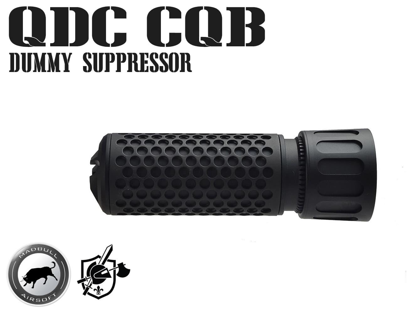 【送料無料】MADBULL KAC QDC CQB Airsoft ダミーサプレッサー BK 14mm正ネジ◆ブラック/正規品/ライセンス品/ナイツ/Knight's ARMAMENT