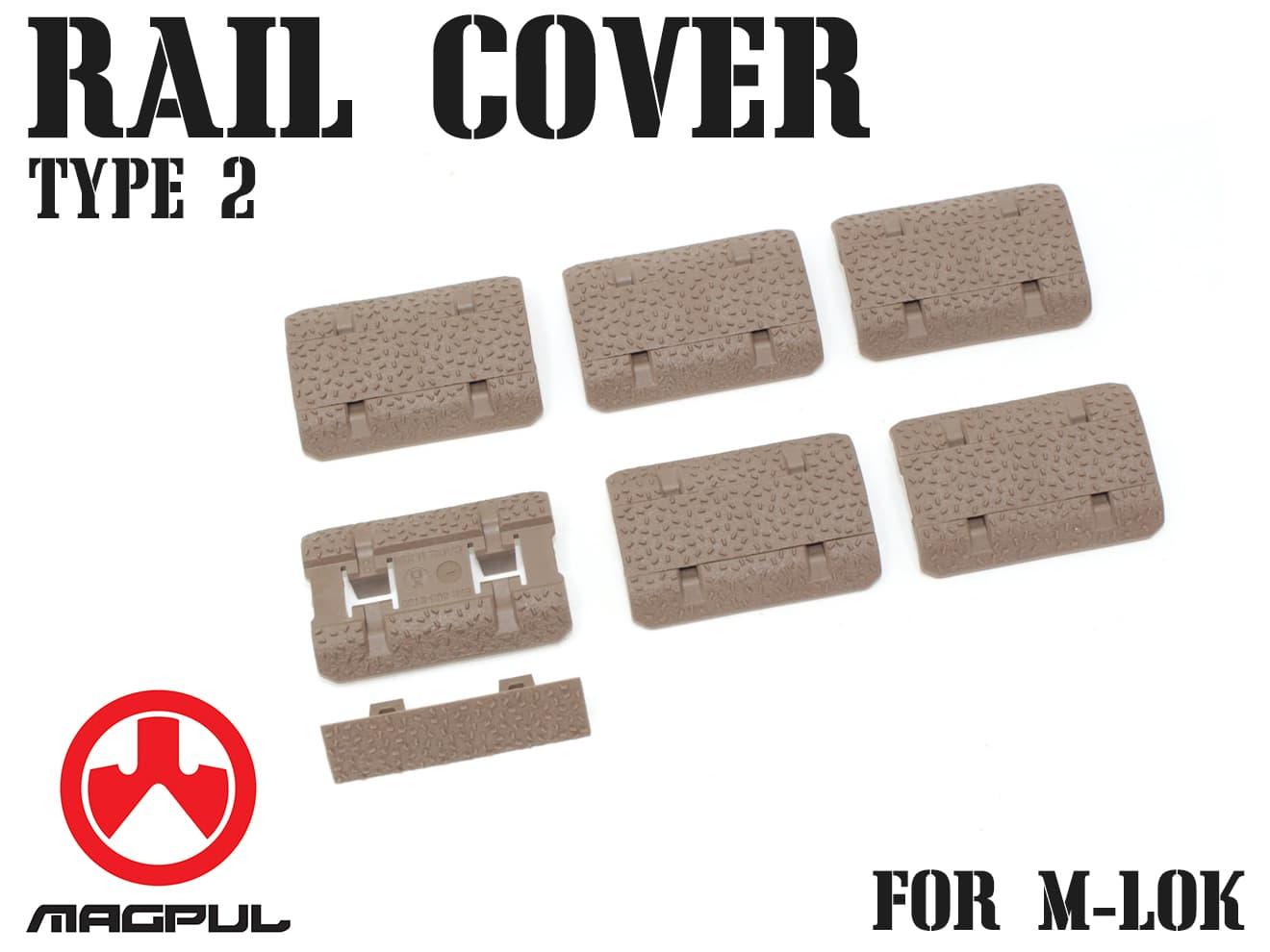 MAGPUL M-Lok レイルカバー Type2 DE◆ハンドガード/Mロック/マグプル/実物/レイルガード/正規品/ダークアース/RAS/レイルプロテクター
