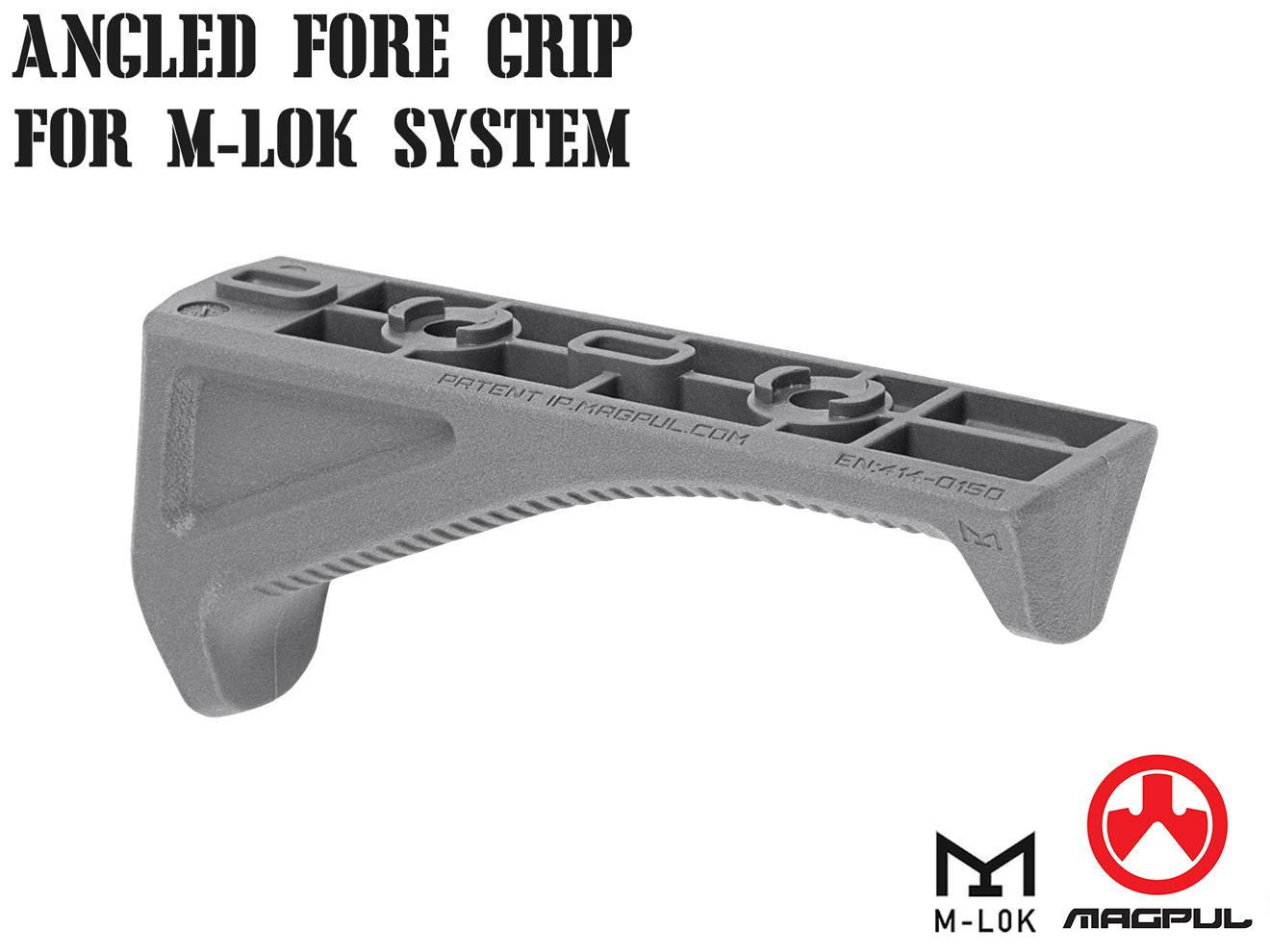 Magpul M-LOK AFG アングルフォアグリップ グレー◆アングルグリップ/ポリマー製/Mロック/軽量/マグプル/MA534450326