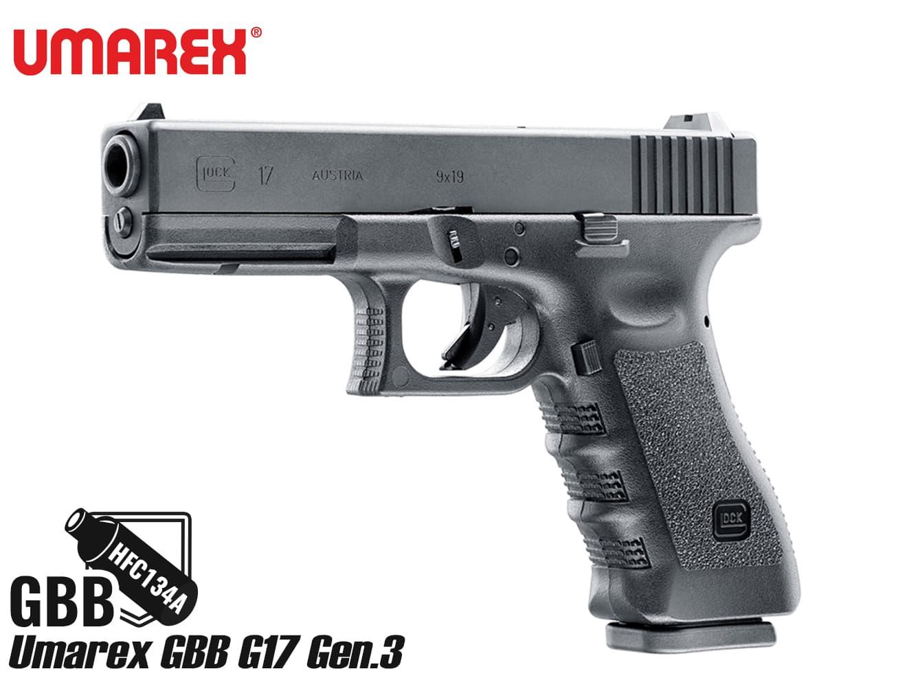 【送料無料】Umarex ガスブローバック グロック G17 Gen.3◆ウマレックス/ユーマレックス/GLOCK/正規品/18才以上対象/ガスブロ/GBB