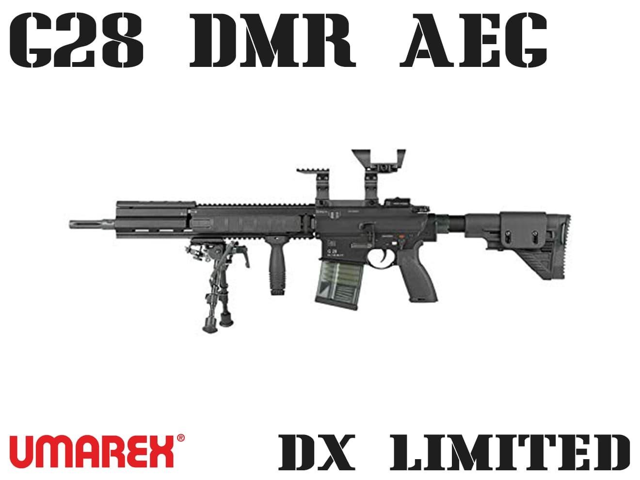 【送料無料】Umarex G28 DMR AEG BLACK ガンケース付 DX Limited◆限定品/18歳以上対象/専用ケース付属/H&K/大型ライフル/海外製電動ガン