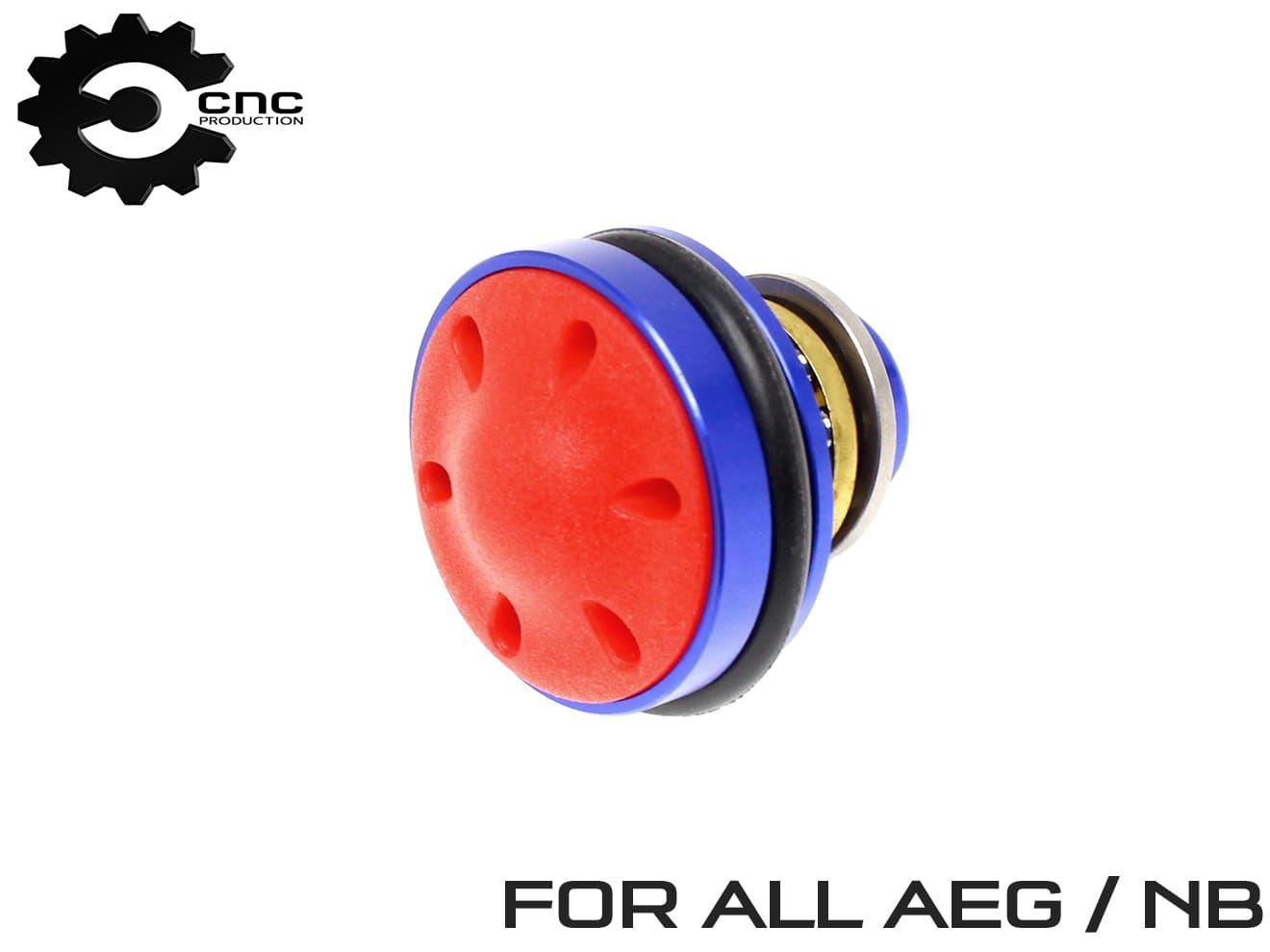CNC-Production ピストンヘッド サイレント 後方吸気 マーケット 強化 補修 電動ガン AEG Ver2 Ver3 M4A1 AK47 MP5 P90 マルイ Production アルミ合金 VFC WE ノーマルボアシリンダー用 各社電動ガン GG KRYTAC 新品 送料無料 ラバーパッドで打撃音削減 ARES ICS CNC ベアリング APS