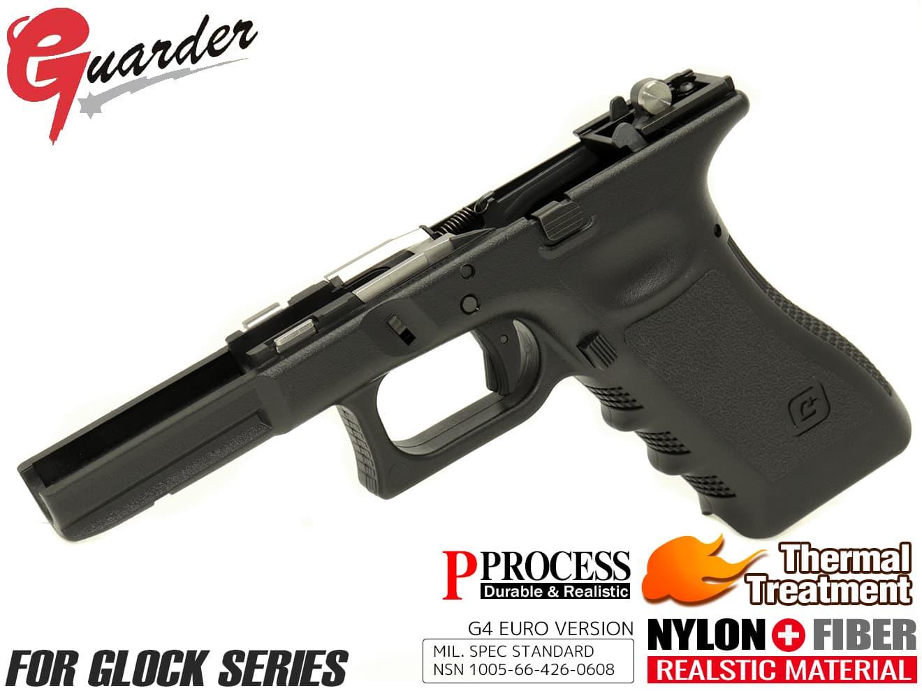 GLK-168(G)BK■GUARDER 2019Ver Gen3 GLOCK フレームコンプリートセット G4 style for G17/G22/G34◆G4 マルイグロック シャーシ ハンマー トリガー