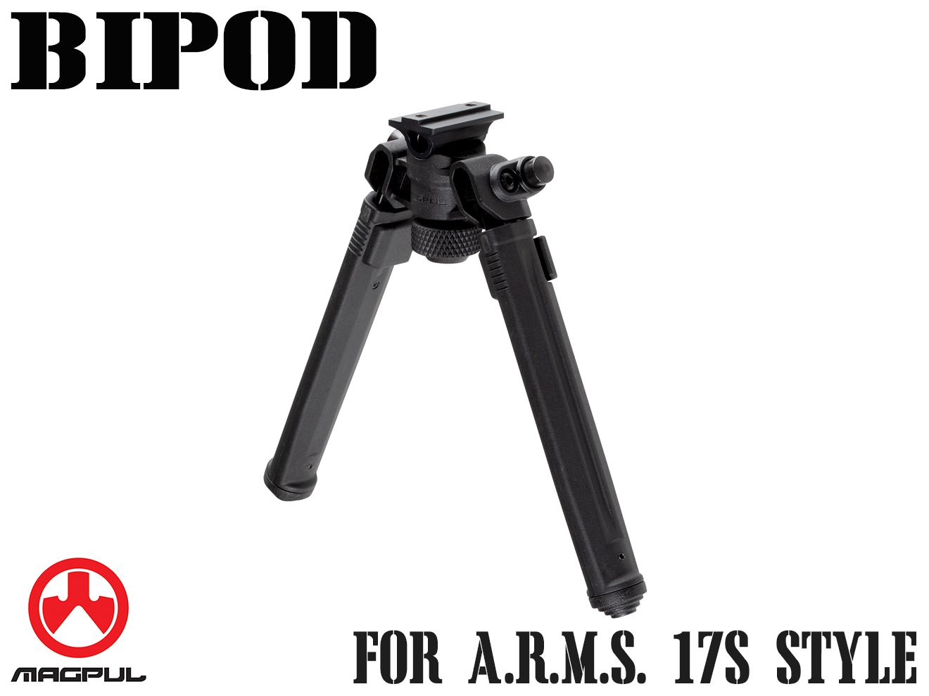 Magpul バイポッド for A.R.M.S. 17S Style◆BK マグプル正規品 A.R.M.S. 17S スタイル レールアダプター対応 7段階調整 軽量 MA556490307