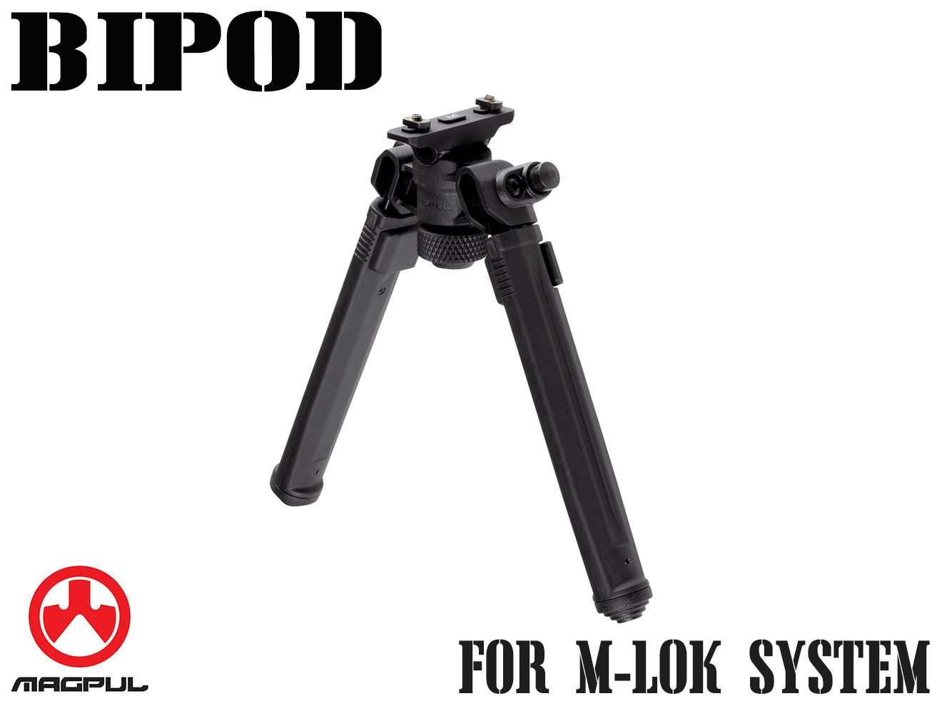 Magpul バイポッド for M-LOK◆BK マグプル正規品 エムロック ハンドガード/RAS/RIS/フォアエンド対応 7段階調整 軽量 高耐久 MA557490307