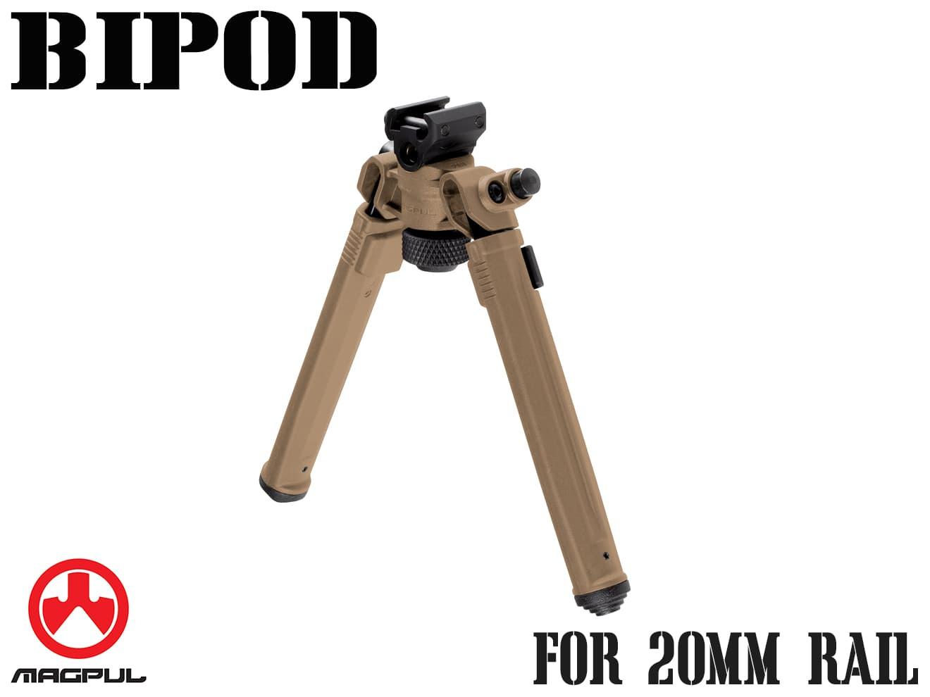 Magpul バイポッド for 20mmレール◆FDE マグプル正規品 20mmレイル対応 ポジション7段階調整 丈夫 ロープロファイル スリック MA558490313