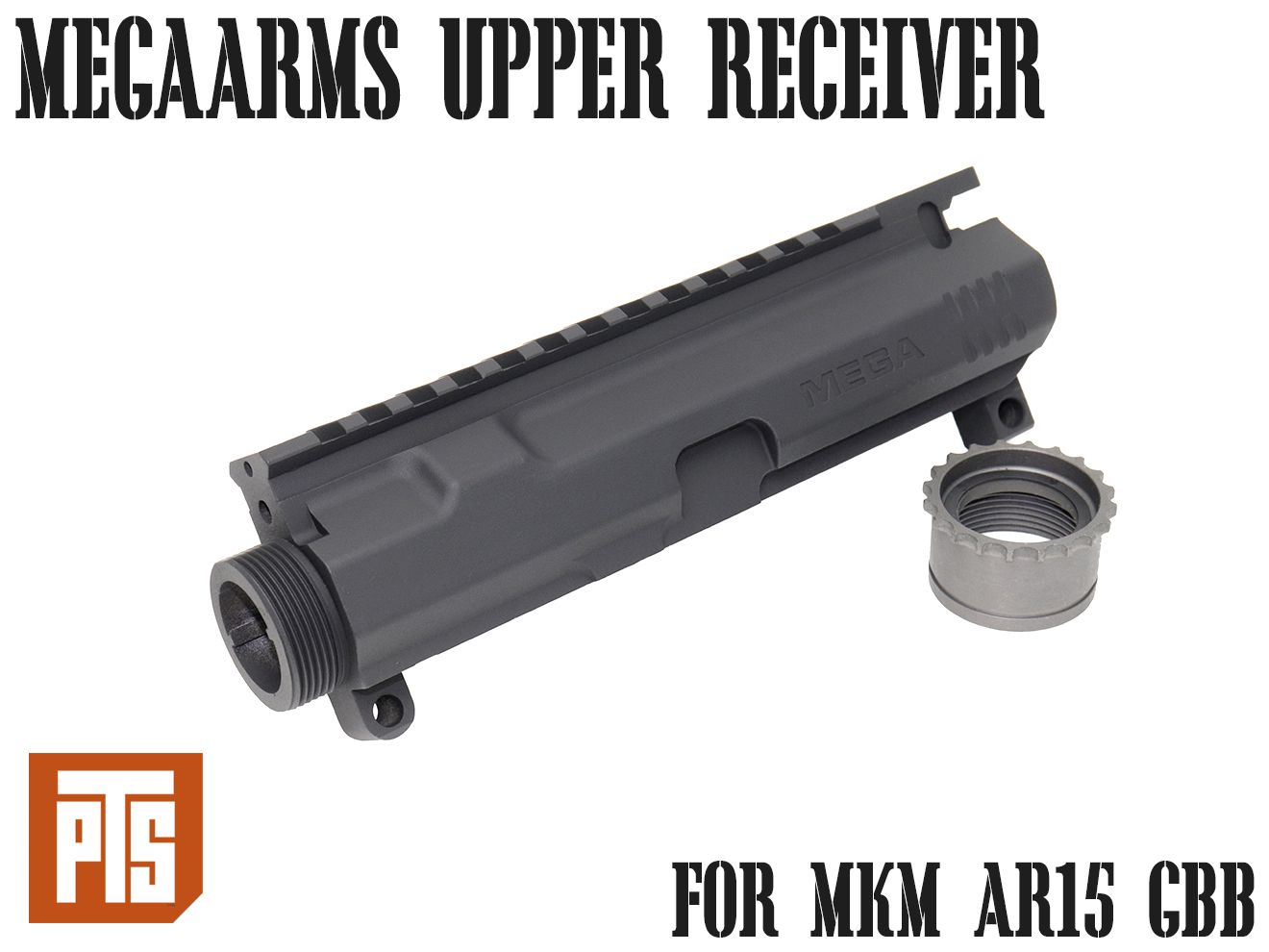 PTS MegaArms AR-15 ビレットアッパーレシーバー GBB◆PTS MEGAARMS MKM に他社製RASを取り付け可能 KSC/KWAシステム対応 強化カスタム