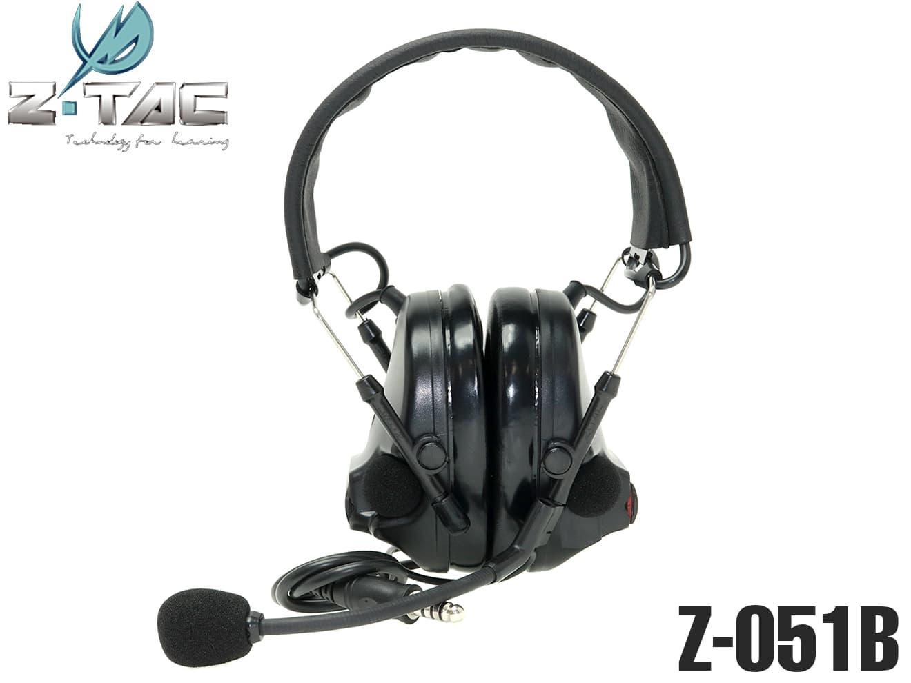 【正規代理店】Z-TACTICAL CMTC III タクティカルヘッドセット BK◆Zタクティカル CMTC 3 ノイズカット/サラウンド機能 NAVYSEALs装備に