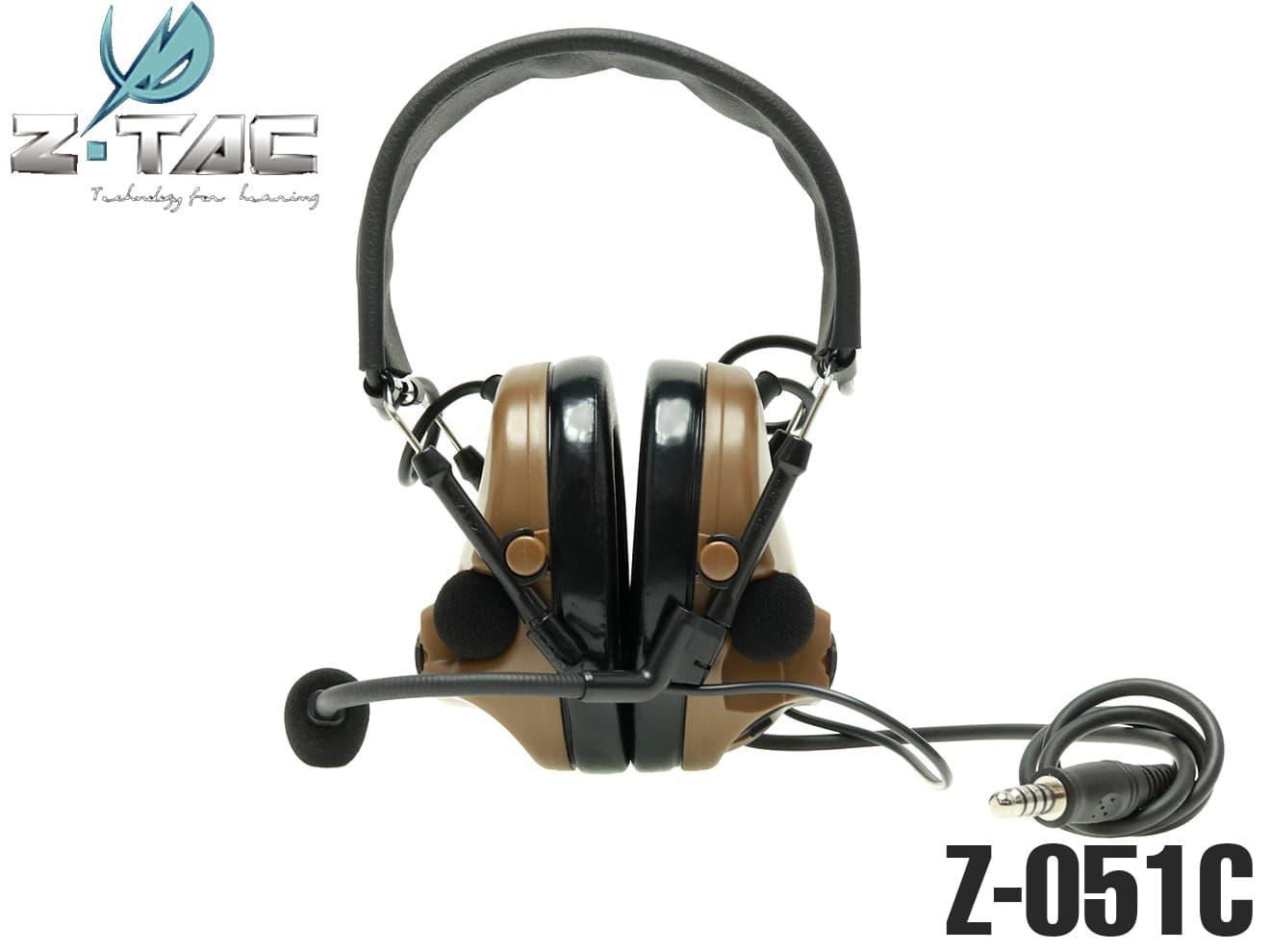 【正規代理店】Z-TACTICAL Comtac III タクティカルヘッドセット CB◆Zタクティカル コムタック3 ノイズカット/サラウンド機能 マイク左右入れ替えが可能